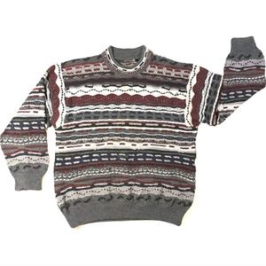 Coogi Australia Men's Mercerized Wool Sweater, Lrg